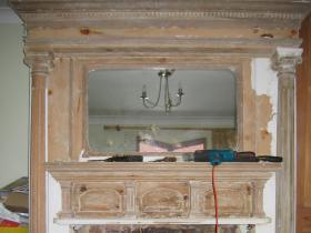 2k. During - Wood fireplace restoration