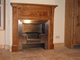 2j - Bespoke Oak surround with metalinsert