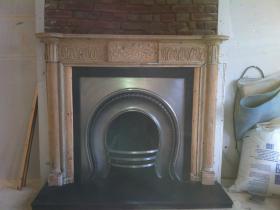 3d. After - Cast iron fireplace restoration